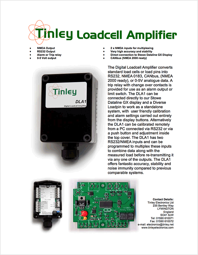 Tinley Loadcell Amplifier
